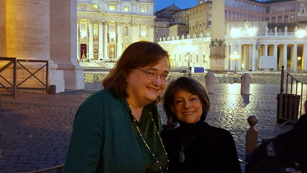 With Lorraine Hirsch at St. Peter's, October 18, 2015