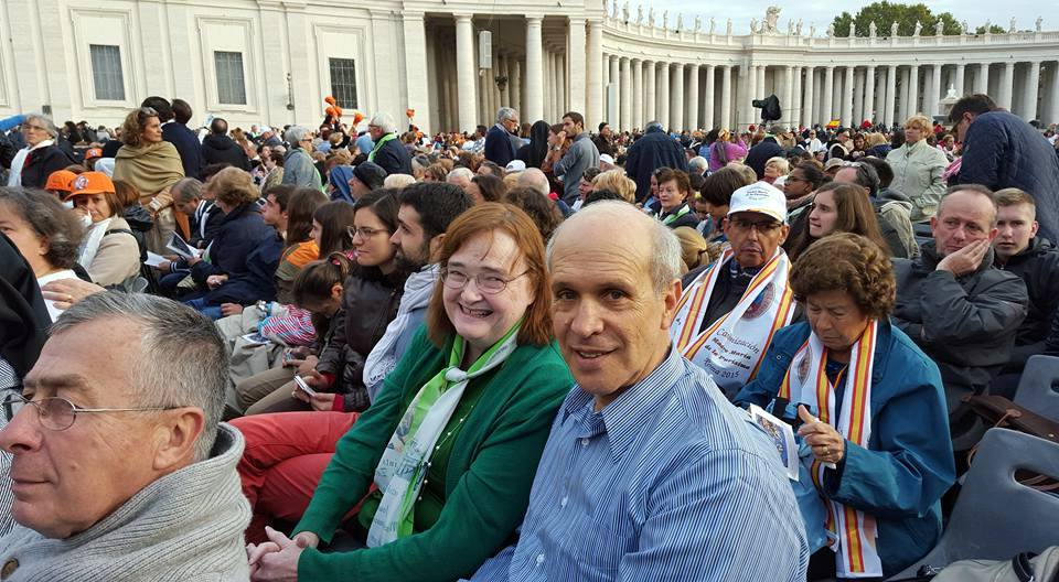 With Jon Frankle before the canonization Mass.