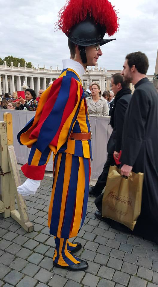 A member of the Swiss guard