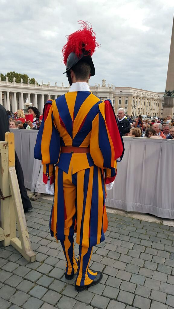 A member of the Swiss guard, rear view