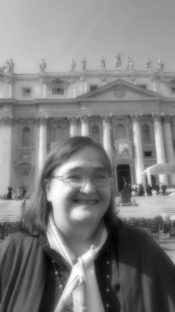 In front of St. Peter's Basilica before the Mass of Canonization of Sts. Louis and Zelie Martin