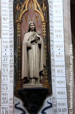 Detail, statue of St. Therese in St. Eulalie's Church, Bordeaux