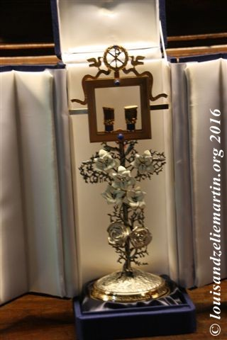The reliquary of Saints Louis and Zelie Martin at St. Eulalie's Church in Bordeaux