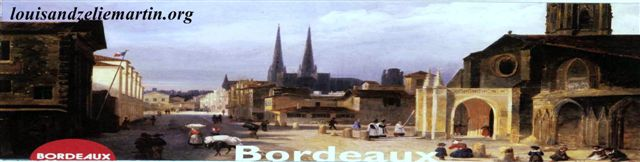 Bordeaux in the 19th century.  courtesy of st. eulalie's church, bordeaux.