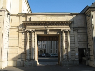 "Entrance to the Bon Sauveur mental hospital, rue Caponiere, Caen, where St. Louis Martin was a patient from February 12, 1889 through May 10, 1892.  Photo credit: ""herbaltablet"""
