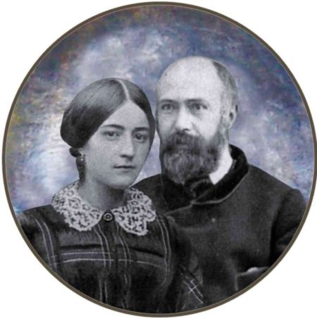 A cOMPOSITE PHOTO OF ZELIE GUERIN AND LOUIS MARTIN NEAR THE TIME OF THEIR MARRIAGE, COURTESY OF FR. ANTONIO SANGALLI, O.C.D.