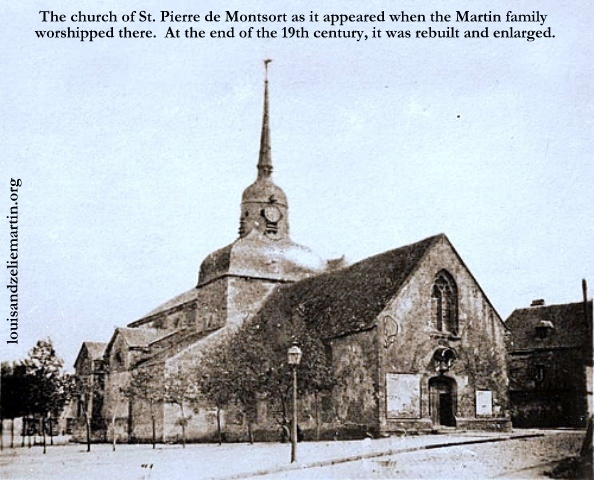 St. Pierre de Montsort, the parish church of Sts. Louis and Zelie Martin from 1858-1871
