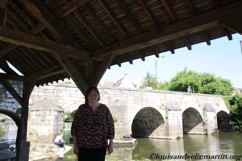 near st. leonard's bridge in alencon, where sts. louis and zelie martin first met in april 1858. PHOTO CREDIT: YVES AND LAI PING COGOLUEGNES KONG. PHOTOGRAPHED IN MAY 2018.
