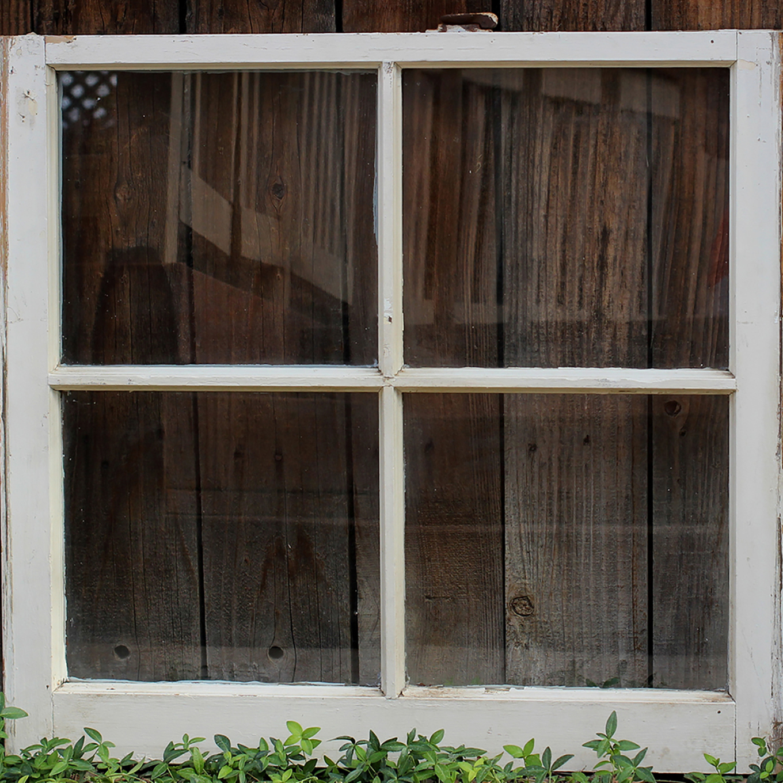 Vintage Wedding Panel Window