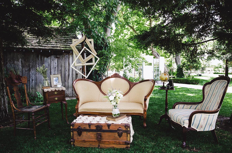 Pageo Lavender Farm Wedding - Vintage Lounge Area