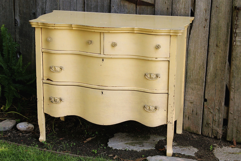 Yellow Vintage Dresser for rent