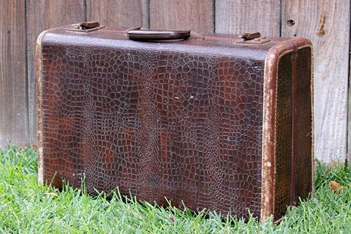 Samsonite Brown Alligator - $15    MORE DETAILS & PICS...