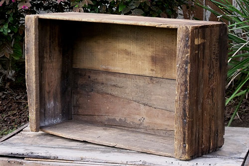 WEATHERED FRUIT CRATE - $8