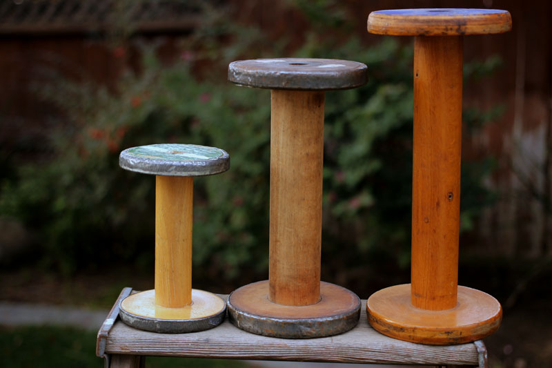Vintage 6 Inch Wooden Spool