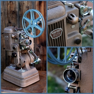 1948 AMPRO FILM PROJECTOR - $40    MORE DETAILS & PICS...