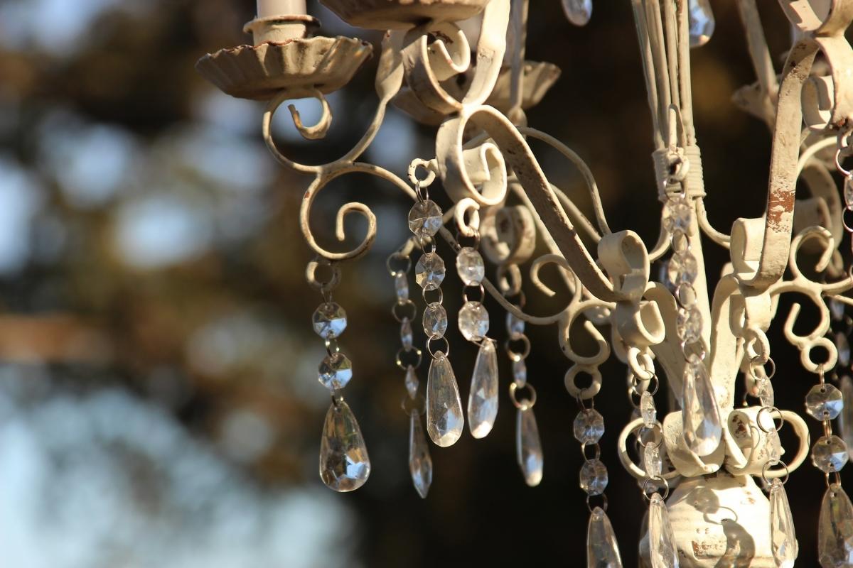 Rustic vintage shabby chic romatic wedding chandelier