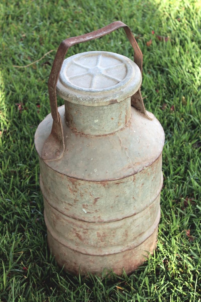 Rustic Vintage Milk Can Decor