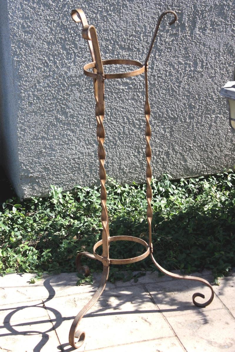 Wrought Iron Plant Stand-Bronze-2.jpg