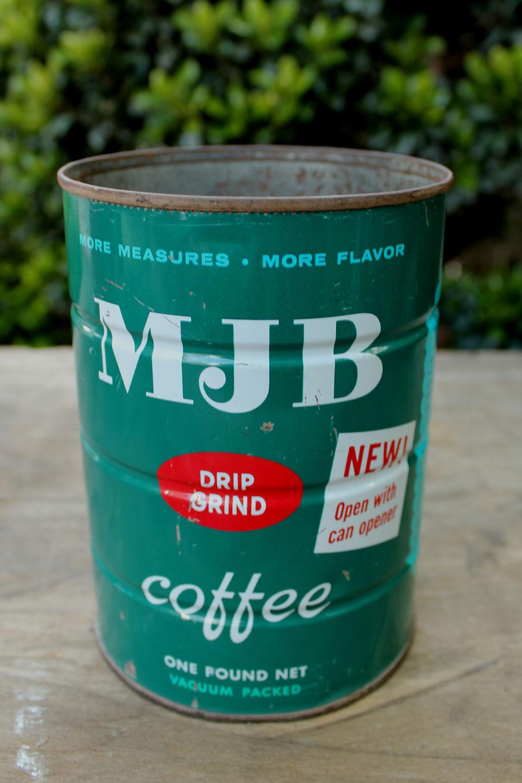 MJB Coffee Tin