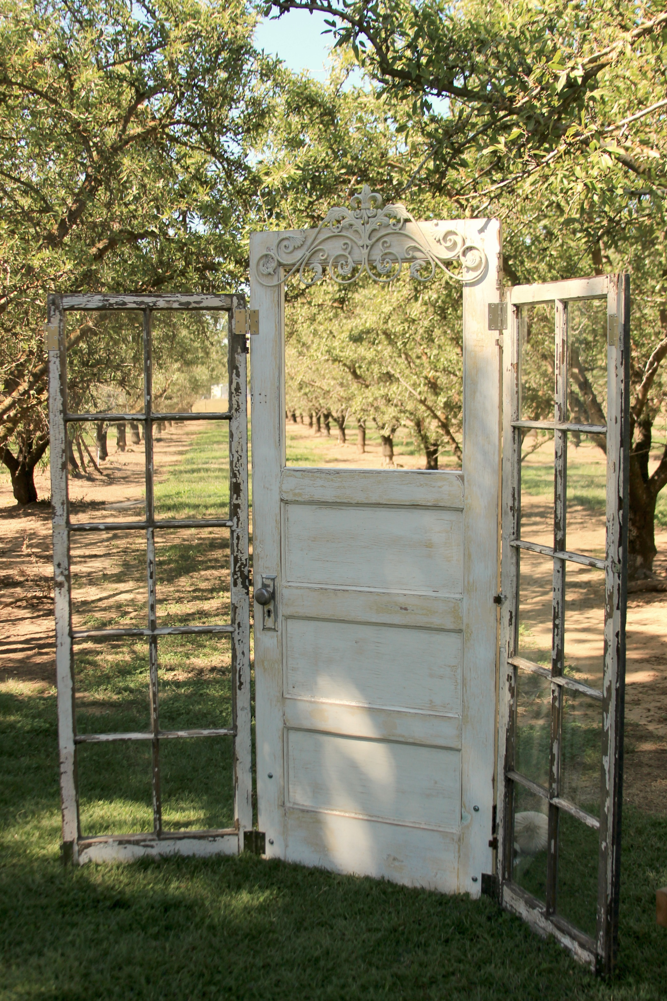 Rustic Vintage Wedding Door Altar Backdrop