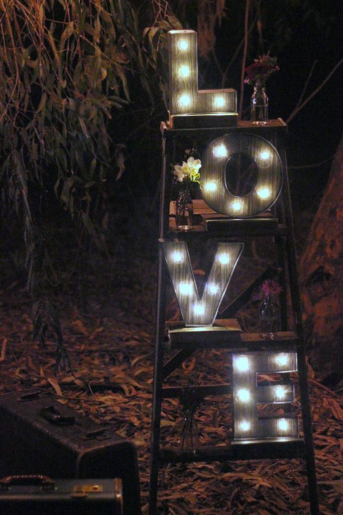 Marquee LOVE Ladder Wedding