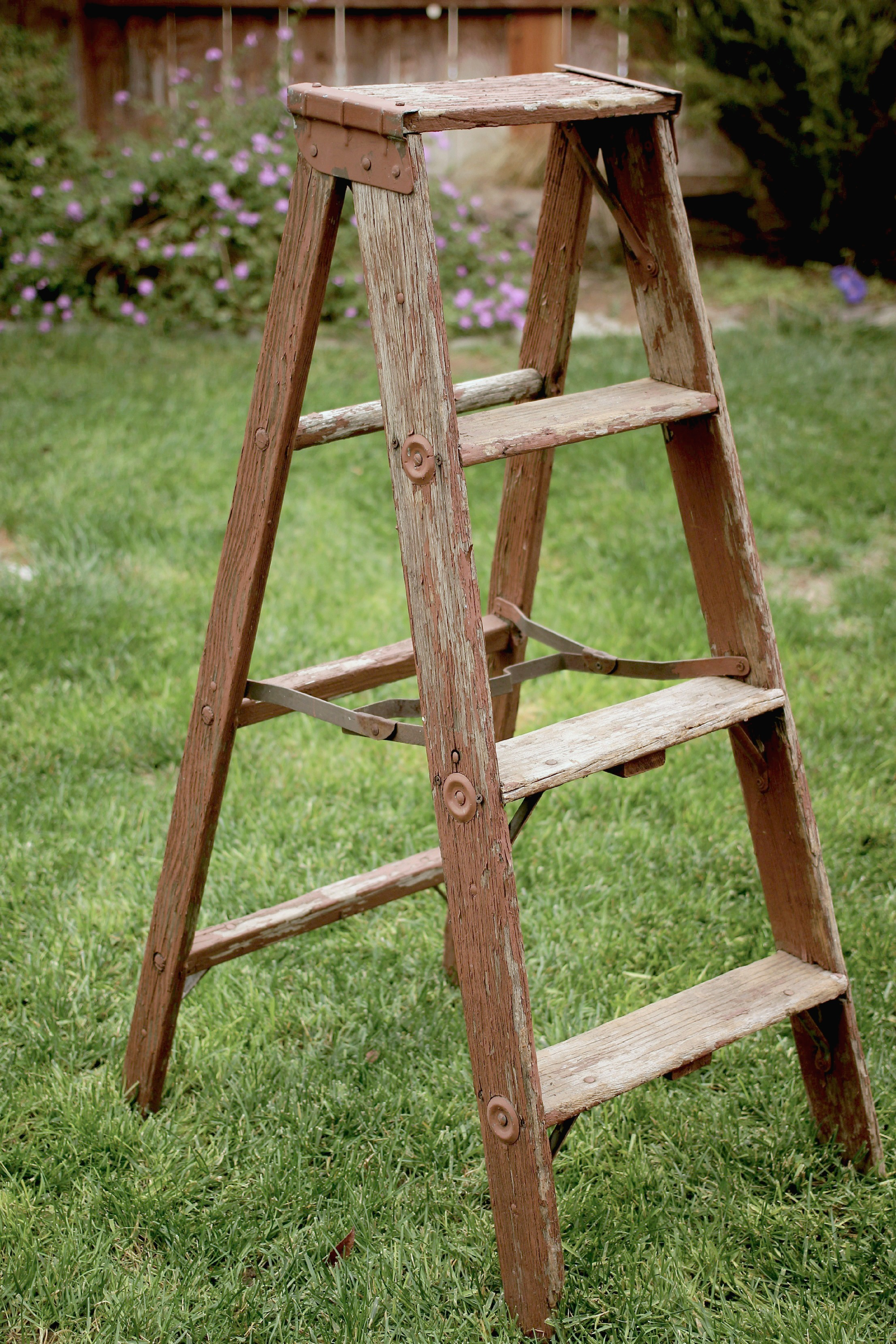 RUSTIC A-FRAME LADDER - $25    MORE DETAILS & PICS...