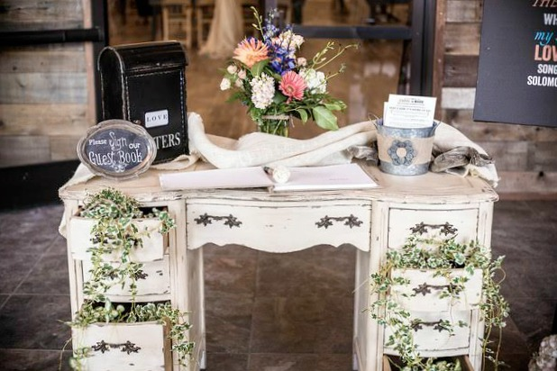Vintage Wedding Guest Welcome Table