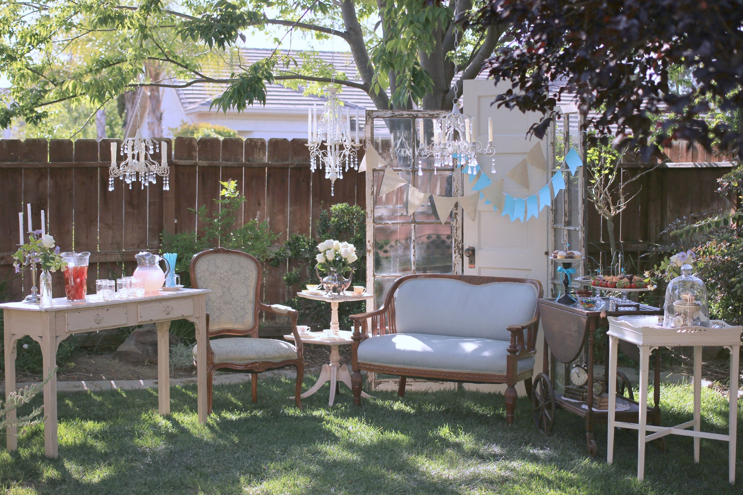 vintage birthday theme antique furniture rentals
