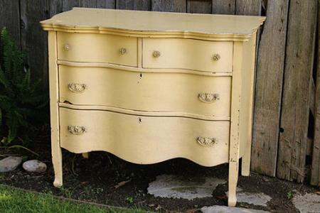 Yellow Wavy Dresser - $75    MORE DETAILS & PICS...