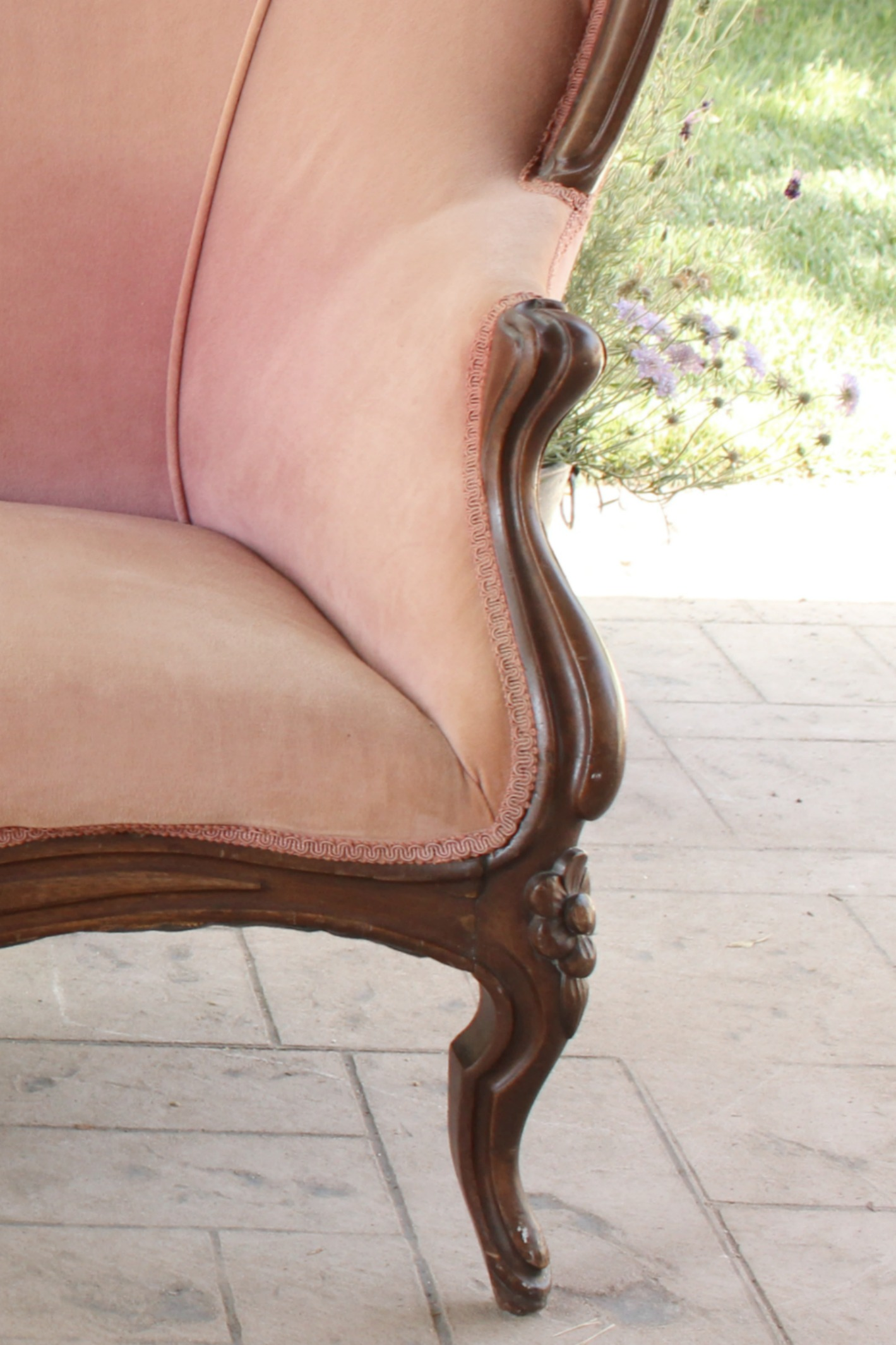 Rose Pink Vintage Love Seat - Settee wedding rentals
