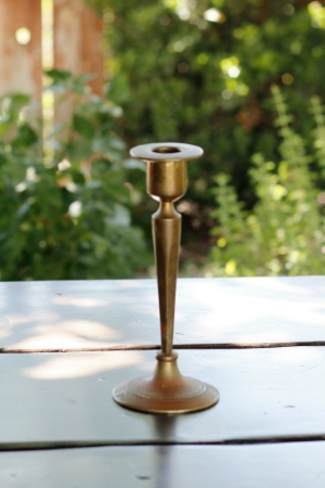 """LIORA"" - Tarnished Brass Taper Candlestick   RENT FOR $5    MORE DETAILS & PICS..."