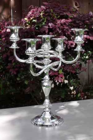 """ELSIE"" - English Silver Table Candelabra   RENT FOR $20    MORE DETAILS & PICS..."