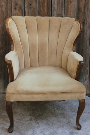 "Wing-Back Parlor Chair - ""Carson""   RENT FOR $50    MORE DETAILS & PICS..."