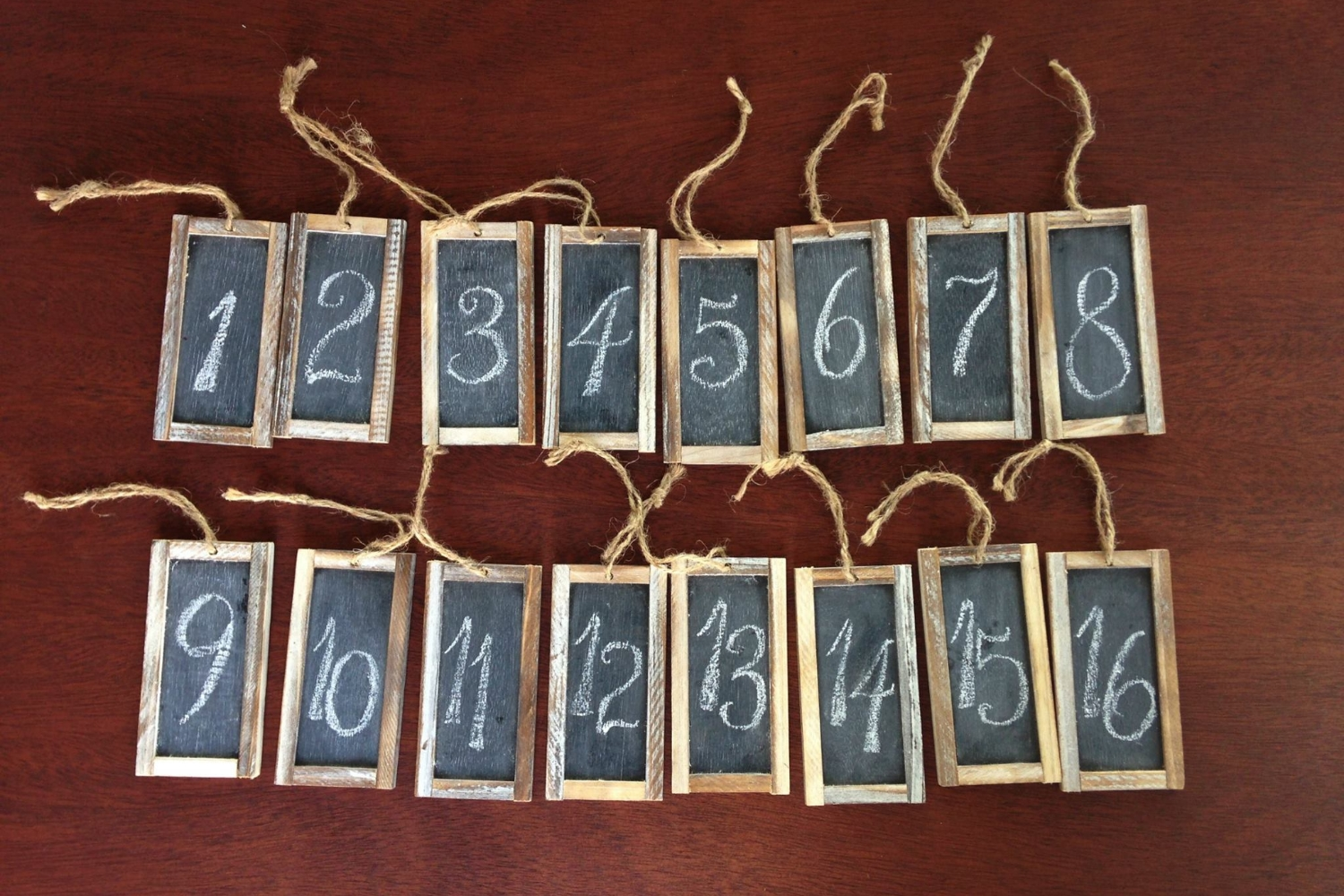 Blank Chalkboard Tags for Table Numbers - .50/each Qty of 24 available