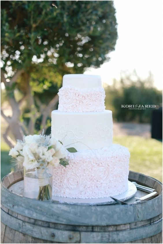 Wine Barrel Wedding Cake