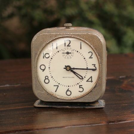 "Medium ""Westclox"" Alarm Clock - $5    MORE DETAILS & PICS..."