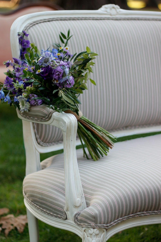 Vintage wedding rentals love seat settee
