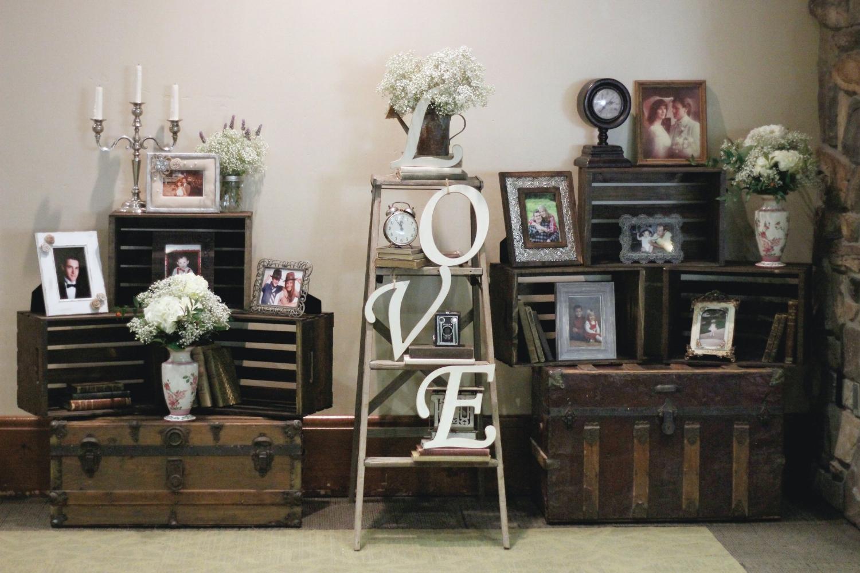 Wine and Roses Wedding - Vintage LOVE ladder