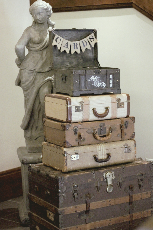 Vintage Luggage Wedding Decor