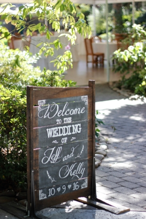 "CUSTOMIZABLE DRYING RACK CHALKBOARD - $40 ""Welcome to the Wedding of ...""    Includes personalized names & date"
