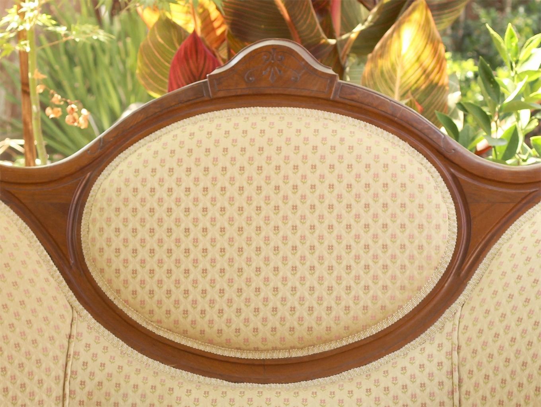 Antique Victorian Love Seat - Settee