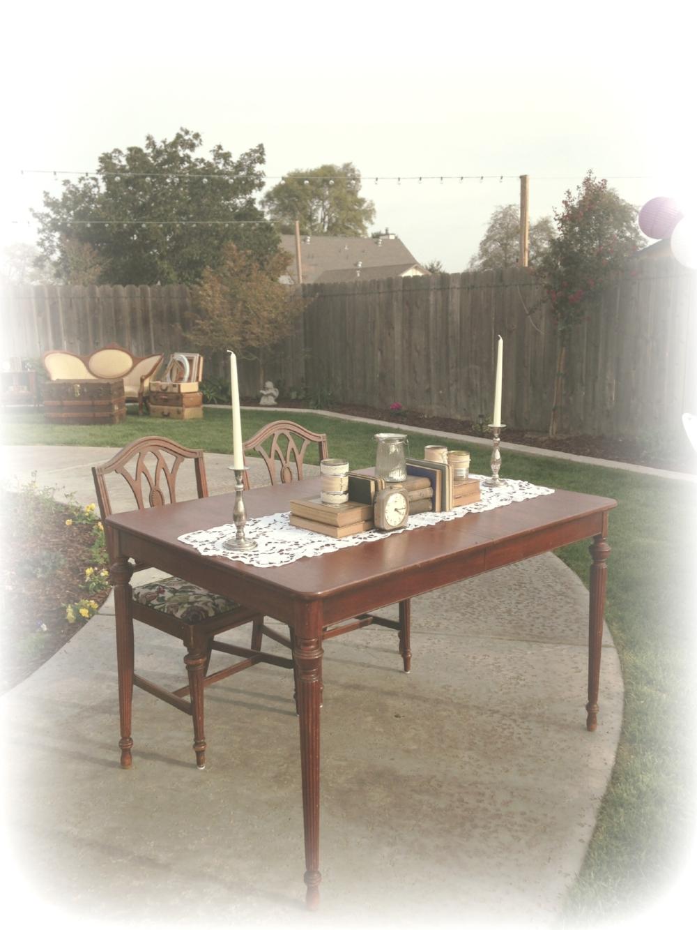 Vintage Wedding Sweetheart Table