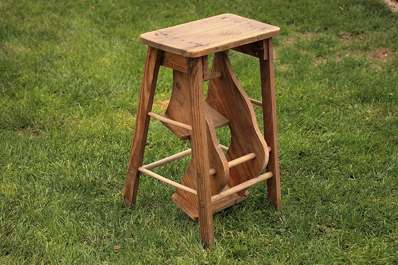 Folding Wooden Step Stool