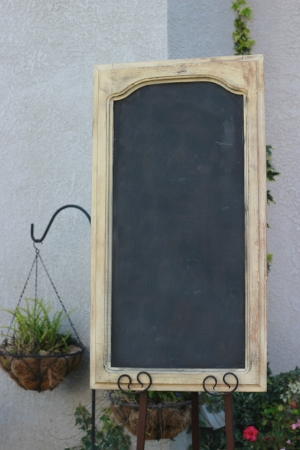 "BLANK CUPBOARD DOOR CHALKBOARD-TALL   Blank - $15 Size: 18"" x 34""    Customizable for additional fee"