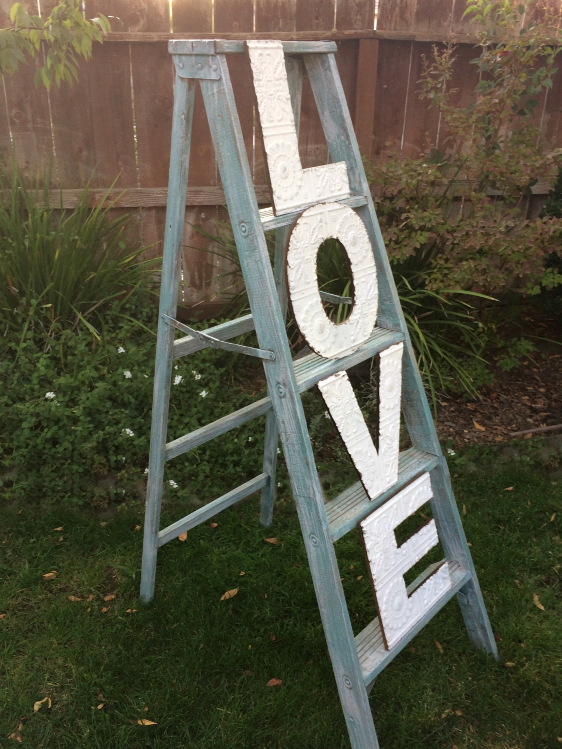 Vintage Wedding Ladder Display