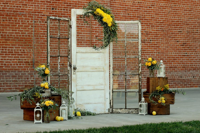 Industrial Vintage Wedding Door Altar Backdrop
