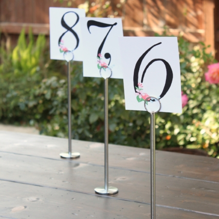"12"" tall, silver Table Number Stands - $2/ea   MORE DETAILS & PICS..."
