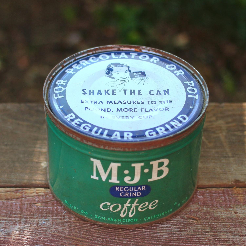 Vintage Coffee Tin - MJB