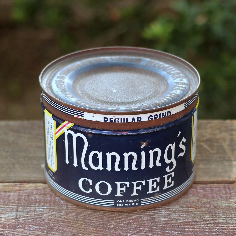 Vintage Coffee Tin - Manning's