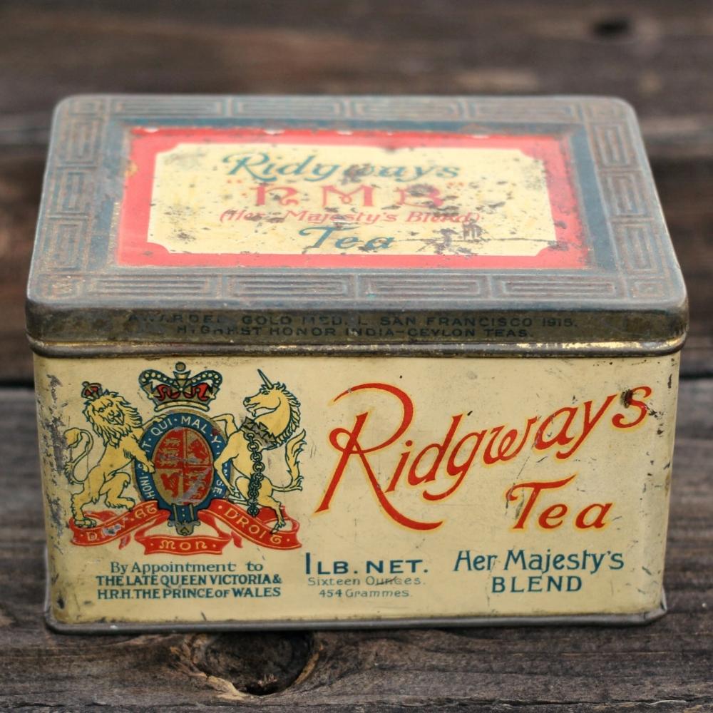 Vintage Tea Tin - Ridgeways Tea